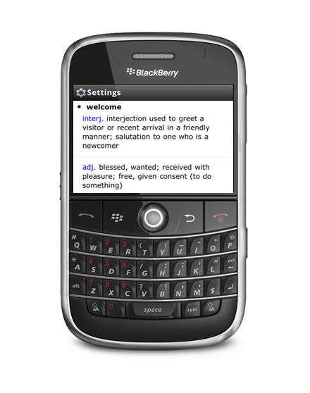 Free translator app for Blackberry