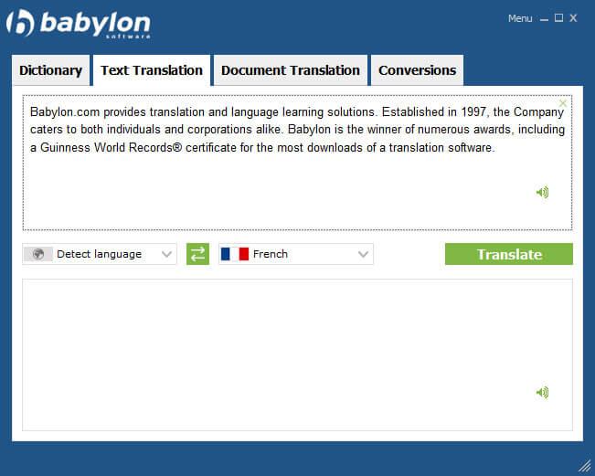 Volltextübersetzung